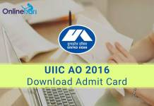 Download UIIC AO Admit Card Call Letter Hall Ticket 2016