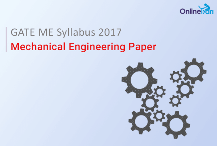 GATE ME Syllabus 2017| Mechanical Engineering