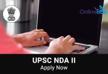 UPSC NDA NA II Application Form, Eligibility, Selection Procedure
