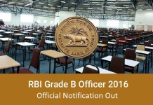 RBI Grade B 2016 Official Notification, Eligibility, Selection