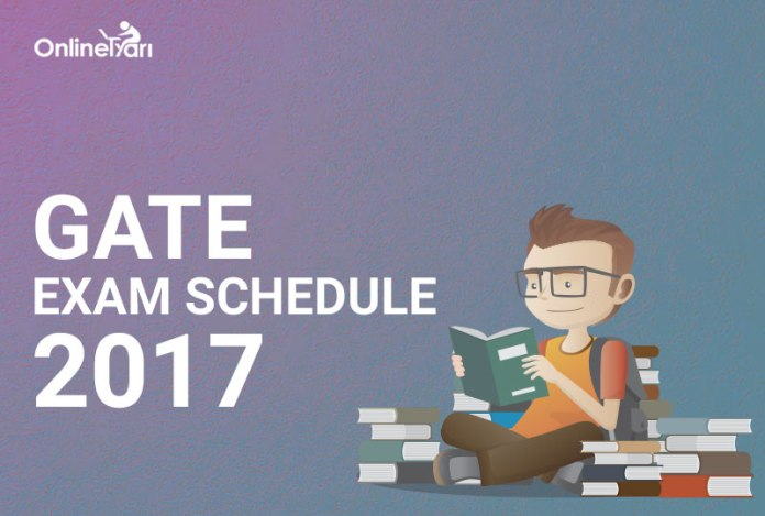 GATE Exam Schedule 2017