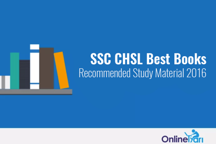 SSC CHSL Best Books, Recommended Study Material 2016