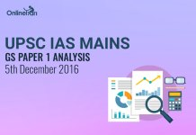 UPSC IAS Mains GS Paper 1 Analysis: 5th December 2016