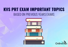 KVS PRT Exam Important Topics: Based on Previous Years Exams