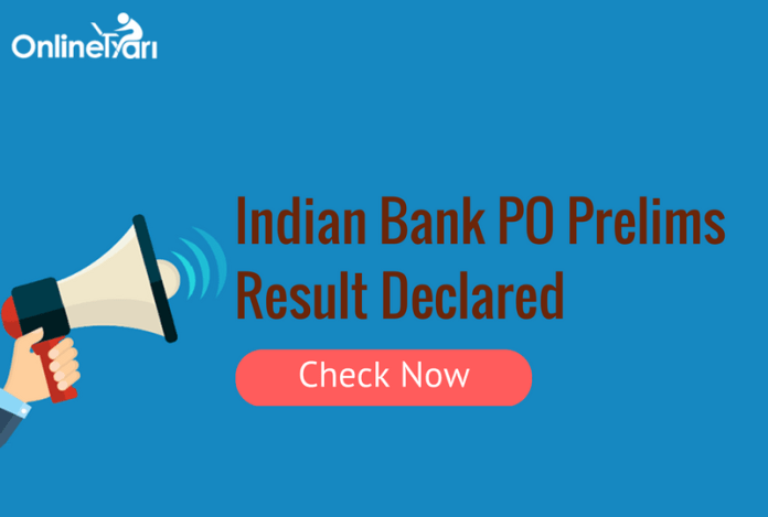 Indian Bank PO Prelims Result Declared: Check PGDBF Merit List