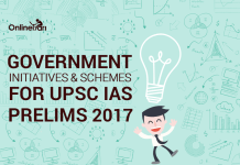 Government Initiatives and Schemes for UPSC IAS Prelims 2017