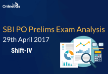 SBI PO Prelims Exam Analysis, Review: 29 April 2017 (Shift 4)