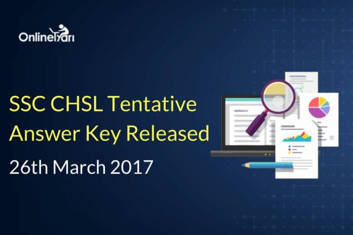 SSC CHSL 2016 Tentative Answer Key for 26th March Released