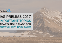 IAS Prelims 2017 Important topics: Adaptations Made for Survival In Tundra Biome