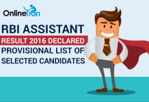 RBI Assistant Result 2016 Declared: List of Provisionally Selected Candidates