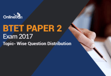 BTET Paper 2 Exam 2017: Topic- Wise Question Distribution