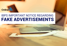 IBPS Important Notice regarding Fake Recruitment Advertisements