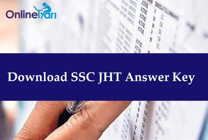 SSC JHT Answer Key (Official) Released: Paper I, Paper II