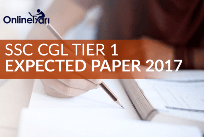 SSC CGL Tier 1 Expected Paper 2017 (Attempt Mock Test)
