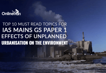 Top 10 Must Read Topics for IAS Mains GS Paper 1|Effects of Unplanned Urbanisation on the Environment