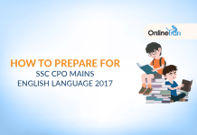 How to Prepare for SSC CPO Mains English Language 2017