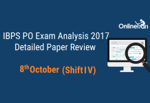 IBPS PO Prelims 2017 Exam Analysis: 8 October (Shift 4)