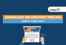 Download RBI Assistant Prelims Admit Card 2017