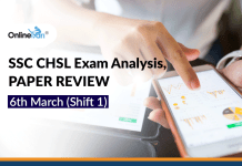 SSC CHSL Exam Analysis, Paper Review: 6th March (Shift 1)