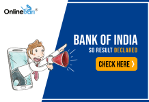 Bank of India SO Result Declared: Check Here