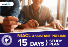 NIACL Assistant Prelims: 15 Days Study Plan