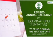 SSC Revised Annual Calendar 2018-19 (Tentative)