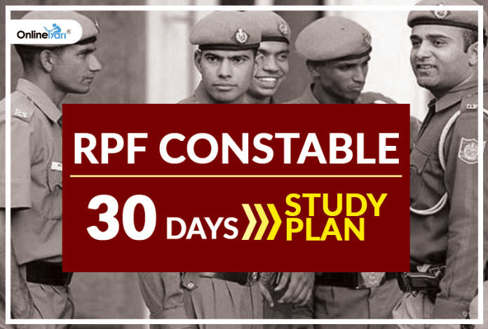RPF Constable 2018: 30 Days Study Plan