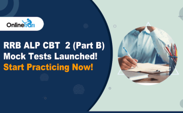 RRB ALP CBT 2 (Part B) Mock Test Launched!! Start Practicing Now