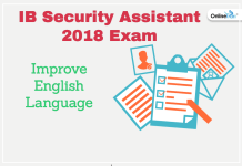 Improve English Language For IB Security Assistant 2018 Exam