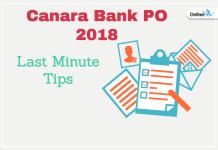 Last Minute Tips for Canara Bank PO 2018