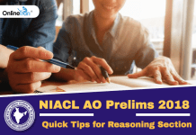 Quick Tips for NIACL AO Prelims Reasoning Ability Section 2018