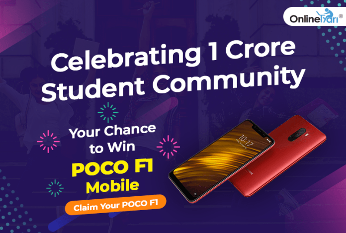 Celebrating 1 Crore Student Community: Your Chance to Win POCO F1 Mobile