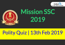 Mission SSC 2019: Polity Quiz | 13th February 2019