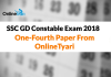 SSC GD Constable Exam 2018: One-Fourth Paper From OnlineTyari
