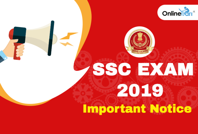 SSC Changes Online Application process 2019: Check Official Notice
