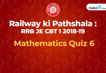 Railway Mthematics quiz 6