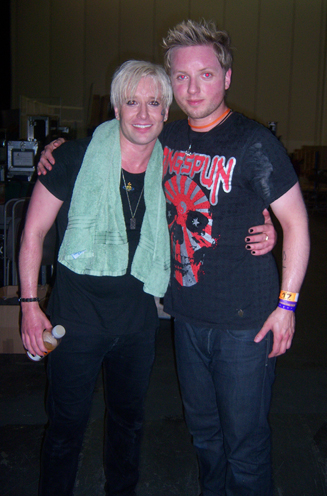 Andrew Stone and guitarist Mickey Cowdroy from Starman
