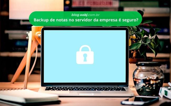 backup no servidor da empresa