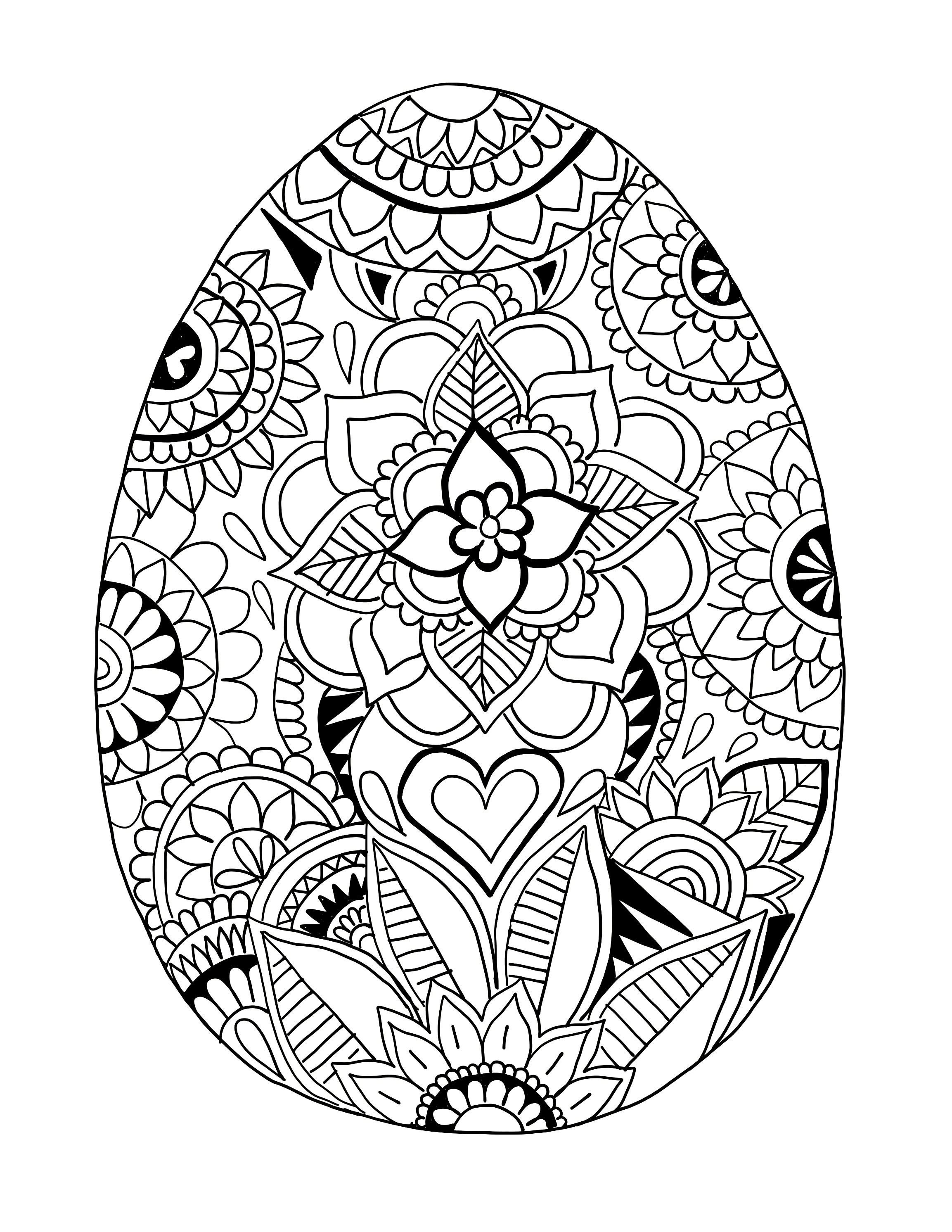 Easter Egg Printable Coloring Page