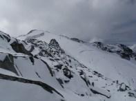 Mount Oleg and the upper glacier