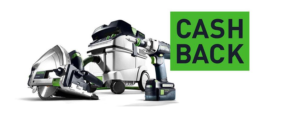 Nur für kurze Zeit: Festool Werkzeug kaufen und bis zu CHF 120 Cashback sichern