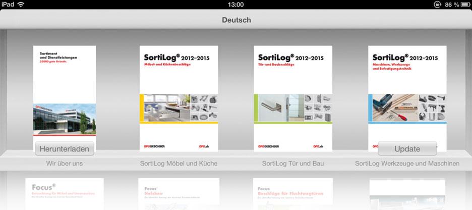 Header für Bericht über OPO iPad-App