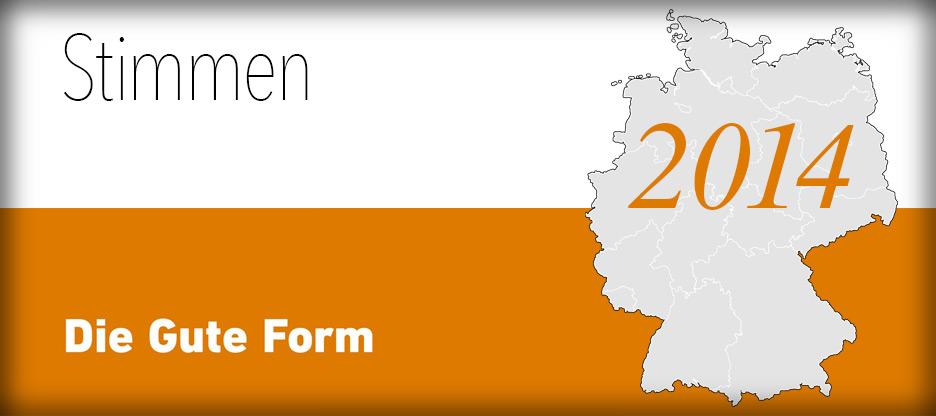 Header Ilustration Stimmen - Die Gute Form 2014