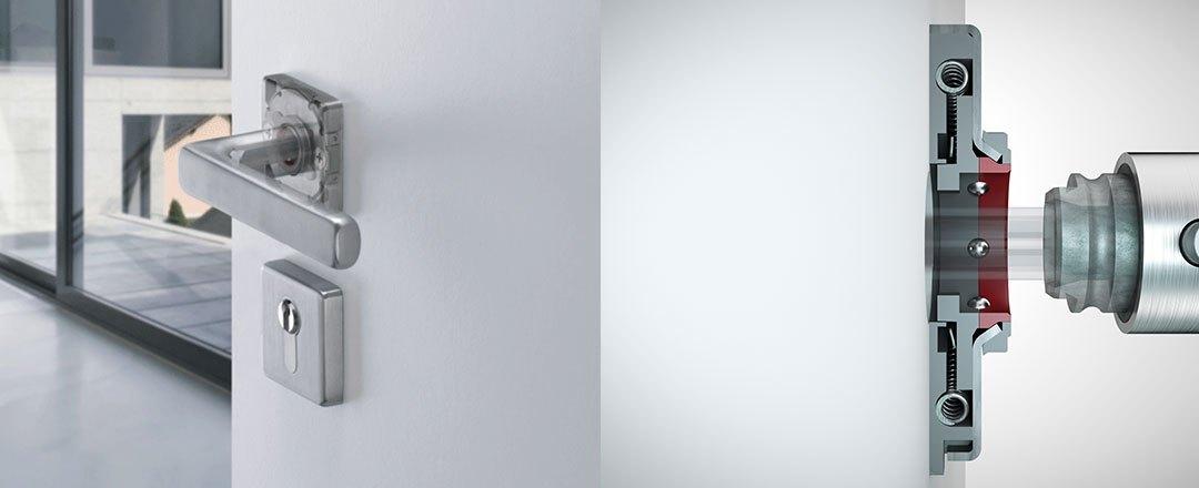 HOPPE-Sertos® Türdrücker: einfach montiert – schnell wieder demontiert