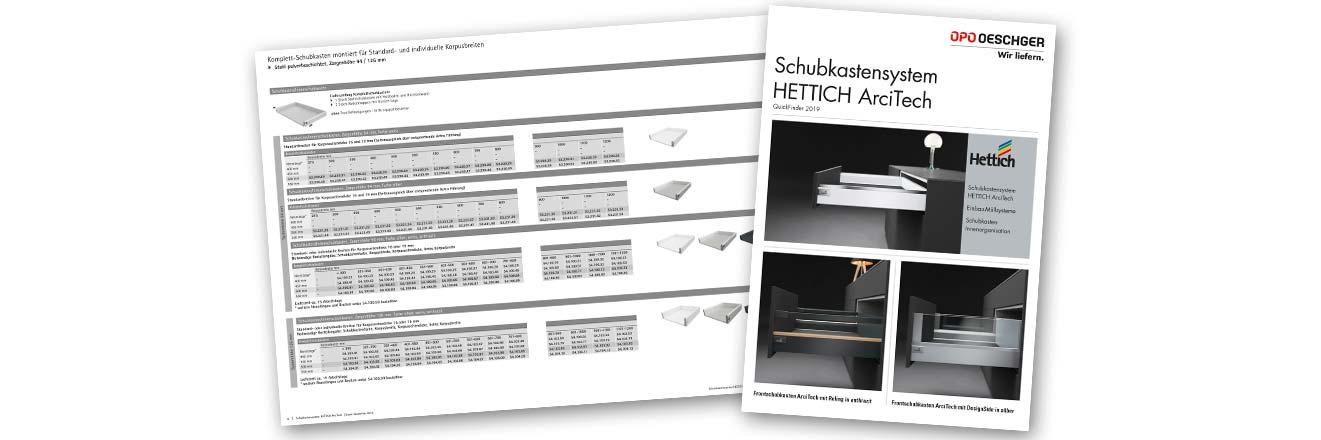 Hettich ArciTech Quickfinder OPO Oeschger