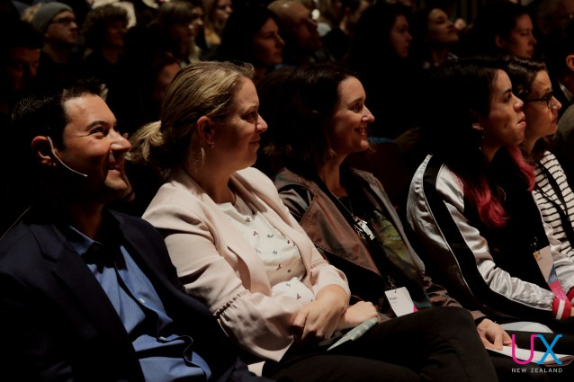 The audience enjoying presentations at UX New Zealand 2017