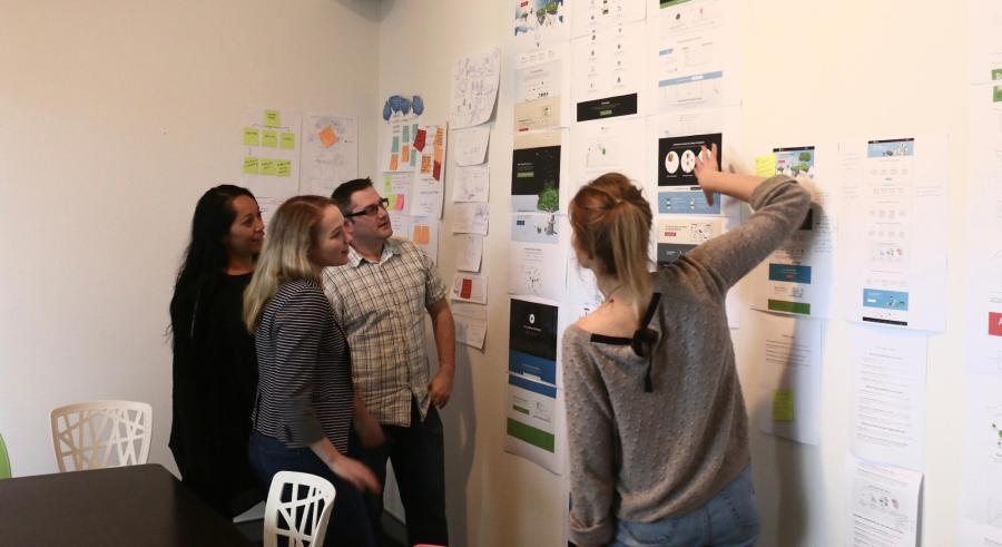 Optimal Workshop researchers hard at work