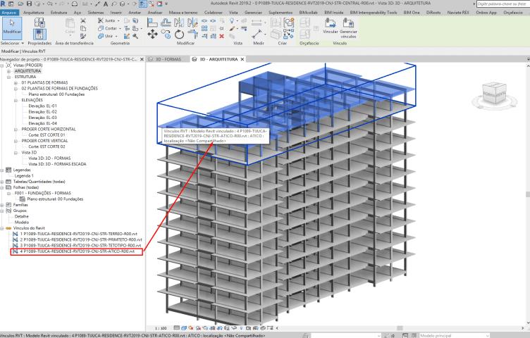 Figura 5 - Link para a Cobertura, Casa de Máquinas e Caixas D´água (Ático)