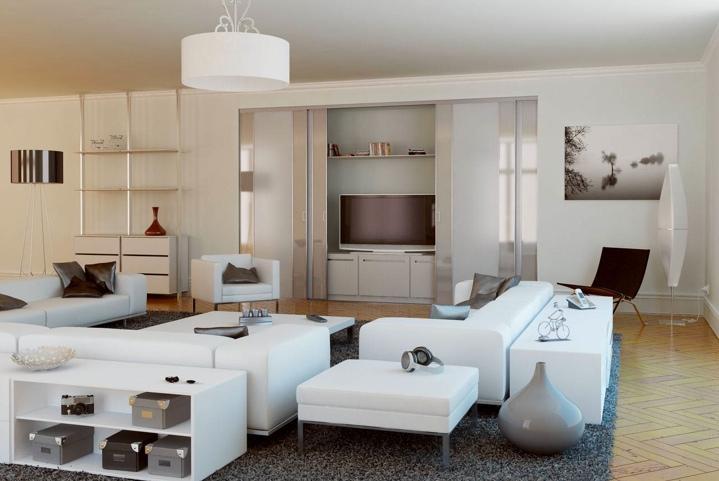 Un salon moderne original et cosy   Tendances dressings et placard