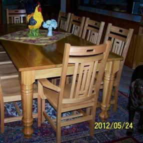 Massive Farm Dining Table Leg